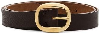 Black & Brown black Harper leather belt