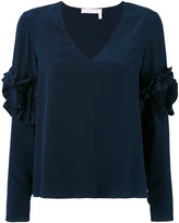 See by Chloe ruffle sleeve blouse - women - Silk/Viscose - 40
