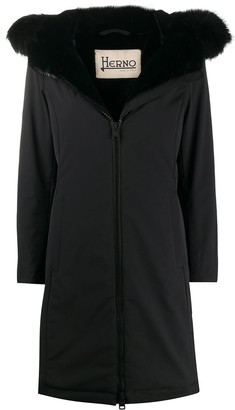 Herno Zip-Up Single-Breasted Coat
