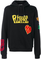 Dolce & Gabbana patch appliqué hoodie