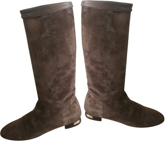 Louis Vuitton Snowball Brown Suede Boots