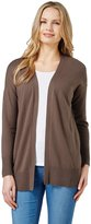 Wool Overs Women's Cashmere & Cotton Open Front Cardigan Extra Large