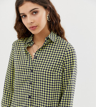 Glamorous oversized boyfriend shirt in gingham
