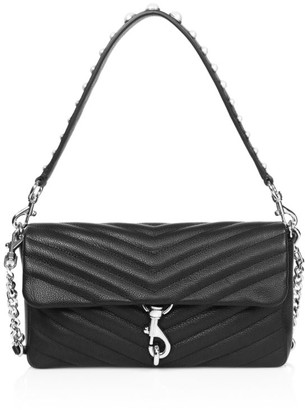 Rebecca Minkoff Edie Embellished Quilted Leather Shoulder Bag
