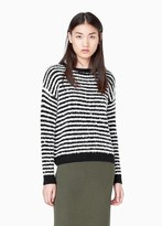 Mango Outlet Striped Wool-Blend Sweater