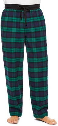 Haggar Men's Plaid Cotton Flannel Sleep Pants
