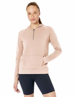 Core Products Amazon Brand - Core 10 Women's Soft Cotton Modal French Terry Fleece 1/4 Zip Hoodie Sweatshirt