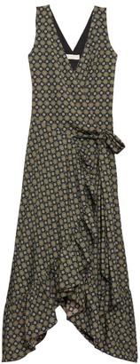 Tory Burch Medallion Print Ruffle Wrap Dress