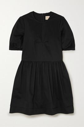 &Daughter Esther Stretch Organic Cotton-twill Mini Dress - Black