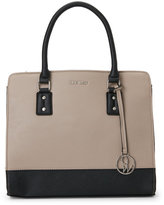 Nine West Mushroom & Black You & Me Satchel