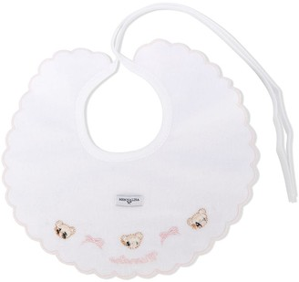 MonnaLisa Teddy Bear Embroidery Bib