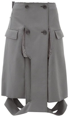 Maison Margiela Deconstructed Houndstooth Pencil Skirt - Grey
