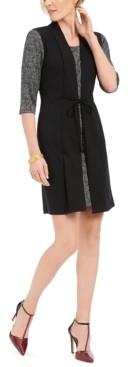 Connected Petite Faux-Jacket Dress