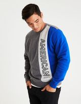American Eagle Outfitters AE Colorblock Crew Neck Fleece Sweatshirt