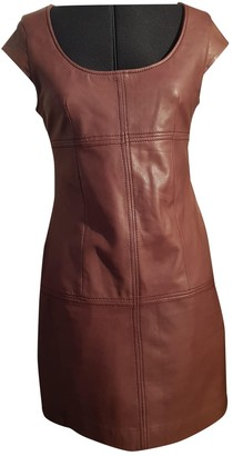 Supertrash Burgundy Leather Dress for Women