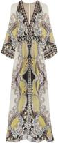 Etro Bead-embellished printed silk-chiffon maxi dress