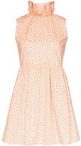 Batsheva Prairie ruffle collar mini dress