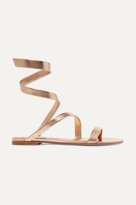 Gianvito Rossi Opera Metallic Leather Sandals - Gold