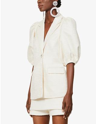 Lavish Alice Puff-sleeved woven jacket