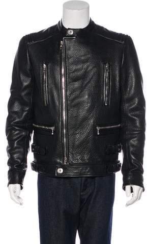 Balmain Lambskin Moto Jacket