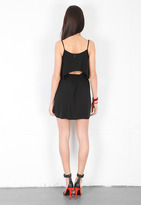 T-Bags T Bags Mini Dress with Open Back in Black