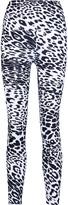 Norma Kamali Printed stretch-jersey leggings