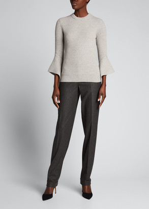 Michael Kors Collection 3/4-Sleeve Shaker Cashmere Sweater