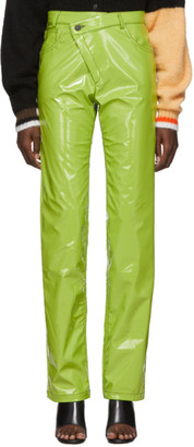 Ottolinger Green Pleather Diagonal Trousers