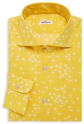 Kiton Palm Tree Dress Shirt