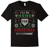 Men's I'LL BE HOME FOR CHRISTMAS BASEBALL UGLY CHRISTMAS SWEATER 3XL