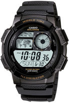 Casio Illuminator Mens Black Bezel Digital Sport Watch AE1000W-1AV