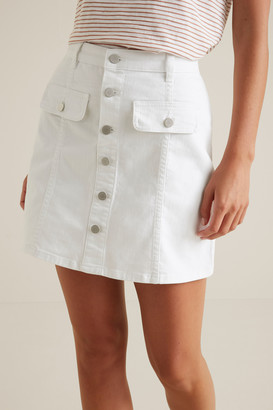 Seed Heritage Button Front Mini Skirt
