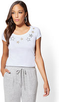 New York & Co. Sparkling Star Scoopneck Tee