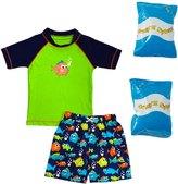 Jump N Splash Toddler Boy's Piranha Party TwoPiece Rashguard Set w/ Free Floaties (2T-3T) - 8143083