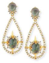 Alexis Bittar Small Crystal Teardrop Hoop Earrings