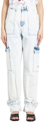 MSGM Acid Wash Strapped Jeans