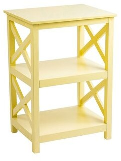 Minnick End Table with Storage Winston Porter Color: White