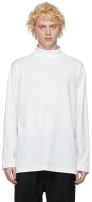 Y-3 White Classic Mock Neck Long Sleeve T-Shirt