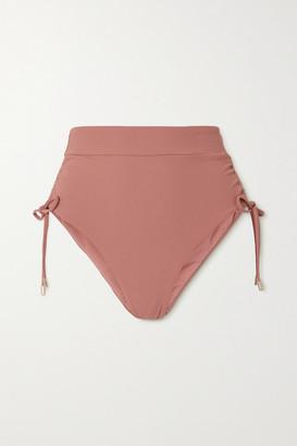 Melissa Odabash Thailand Ruched Bikini Briefs - Antique rose