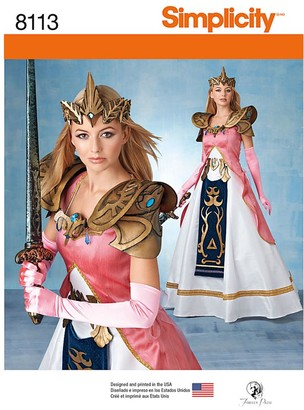 Simplicity Craft Women's Costume Sewing Pattern, 8113