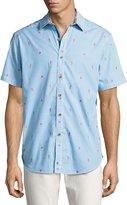 Robert Graham Randle Hawaiian Striped Short-Sleeve Shirt, Multicolor