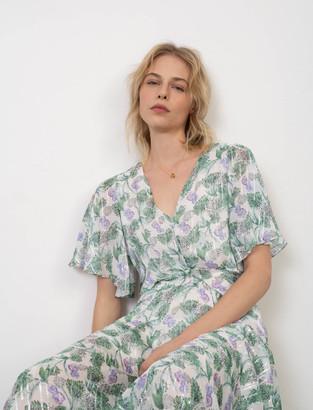 Maje Printed muslin scarf dress