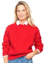 Demy Lee Red Alice Crewneck Sweater