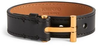 Tom Ford Leather T Bracelet