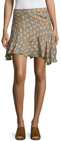 Derek Lam 10 Crosby Silk Print Asymmetrical Skirt