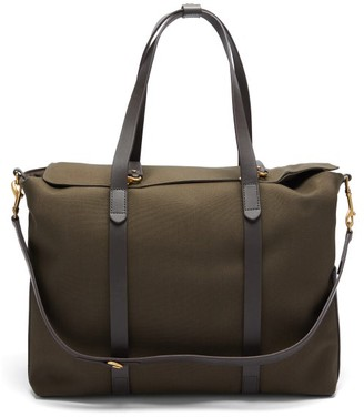 Mismo - Mega Tote Two-in-one Canvas & Leather Holdall - Dark Brown