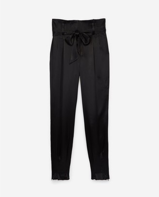 The Kooples Flowing trousers with knotted waist
