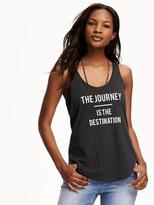Old Navy Relaxed Graphic Scoop Racer Tank for Women