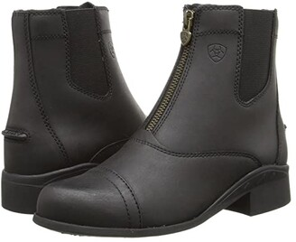 Ariat English Kids Scout Zip Paddock (Little Kid/Big Kid) (Black) Cowboy Boots