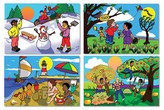 Melissa & Doug Four Seasons Floor Puzzle - Winter, Spring, Summer, and Fall (48 pcs)
